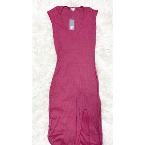 Splendid Striped Slit Maxi Dress